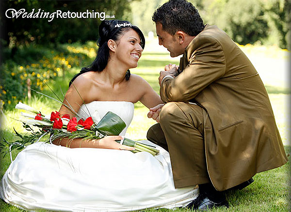 Wedding photo in need of complete retouch